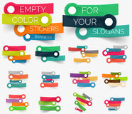 Vectorinzameling van document stickerbanners Royalty-vrije Stock Afbeeldingen