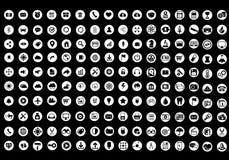 Vectorinzameling van kleurrijke vlakke bedrijfs en financiënpictogrammen royalty-vrije illustratie