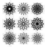 Vectorinzameling van ongebruikelijke bloemen Royalty-vrije Stock Foto's