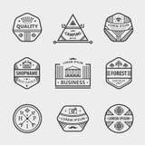 Vectorinzameling van zwart-wit hipsterwijnoogst Royalty-vrije Stock Afbeelding