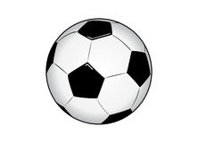 vectorized球的足球 库存图片