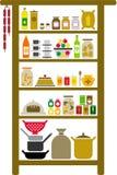 vectorized的餐具室 库存照片