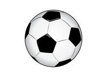 Vectorized Bal van het Voetbal Stock Afbeeldingen