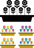 Vectorized flowers Stock Images