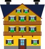 Vectorized generisches Gebäude Lizenzfreie Stockfotos