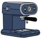 The blue electric espresso maker. The vectorized hand drawing of a blue electric espresso maker royalty free illustration