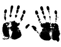 Vectorized Hand Prints and Smeers Stock Images