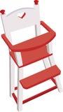 Vectorized houten hoge stoel, kinderen veilige stoel Royalty-vrije Illustratie