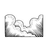 Vectorized Ink Sketch of Clouds Stock Photography