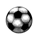 Vectorized Ink Sketch of a Soccer Ball Stock Image