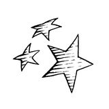 Vectorized Ink Sketch of Stars Royalty Free Stock Photo