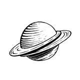 Vectorized Inktschets van een Planeet royalty-vrije illustratie
