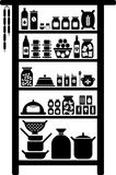 Vectorized pantry. A vectorized pantry and all its elements Royalty Free Stock Images