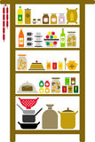 Vectorized pantry. A vectorized pantry and all its elements Stock Photos