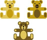 Vectorized Teddybären lizenzfreie abbildung