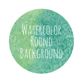 Vectorized watercolor background round shape Royalty Free Stock Images