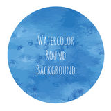 Vectorized watercolor background round shape Stock Images
