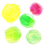 Vectorized watercolor dots Royalty Free Stock Photos