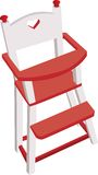 Vectorized wooden high chair, children safe chair Stock Photography