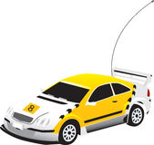 A vectorized yellow toy car Royalty Free Stock Photo