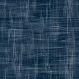 Vectorjeansachtergrond met bloemen Denim naadloos patroon De stof van de jeans Bloemen grungeachtergrond Stock Afbeelding