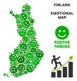 Vectorjoy finland map mosaic van Glimlachen vector illustratie