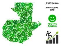 Vectorjoy guatemala map mosaic van Smileys royalty-vrije illustratie