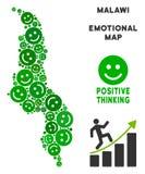 Vectorjoy malawi map mosaic van Glimlachen royalty-vrije illustratie