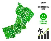 Vectorjoy oman map mosaic van Smileys Vector Illustratie