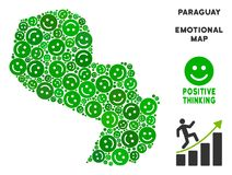 Vectorjoy paraguay map mosaic van Smileys Stock Illustratie
