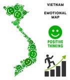 Vectorjoy vietnam map mosaic van Glimlachen royalty-vrije illustratie