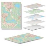 Vectorkaart Royalty-vrije Stock Afbeeldingen
