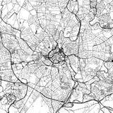Vectorkaart de Van de binnenstad van Coventry royalty-vrije illustratie