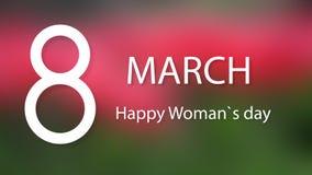 Vectorkaart 8 Maart Internationale Vrouwendag Vector illustratie stock illustratie