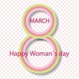 Vectorkaart 8 Maart Internationale Vrouwendag Vector illustratie royalty-vrije illustratie