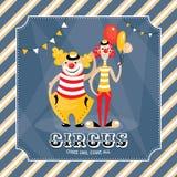 Vectorkaart met clowns Royalty-vrije Stock Fotografie