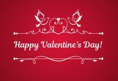 Vectorkaart met Dag van tekst de Gelukkige Valentijnskaarten Royalty-vrije Stock Foto