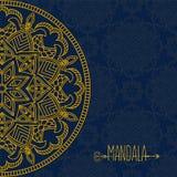 Vectorkaart met mandala Het kan voor prestaties van het ontwerpwerk noodzakelijk zijn Etnische decoratief Royalty-vrije Stock Fotografie