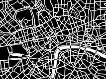 Vectorkaart van Londen Stock Afbeelding