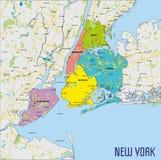 Vectorkaart van New York stock illustratie