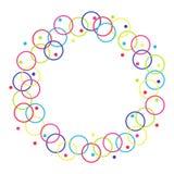 Vectorkader van cirkels en ringen royalty-vrije illustratie