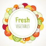 Vectorkader van groenten Stock Foto's