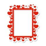 Vectorkader van harten stock illustratie