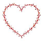 Vectorkader van vele harten voor tekst Stock Foto