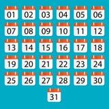 Vectorkalender apps pictogram Stock Foto's