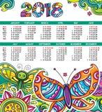Vectorkalender 2018 jaar Royalty-vrije Stock Fotografie