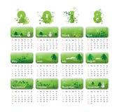Vectorkalender voor 2018 royalty-vrije stock foto