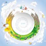 Vectorkalender voor 2018 Stock Afbeeldingen