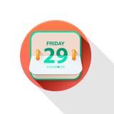 Vectorkalenderpictogram Stock Fotografie