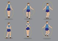 Vectorkarakter van de kabel het Overslaande Oefening - reeks Royalty-vrije Stock Afbeeldingen